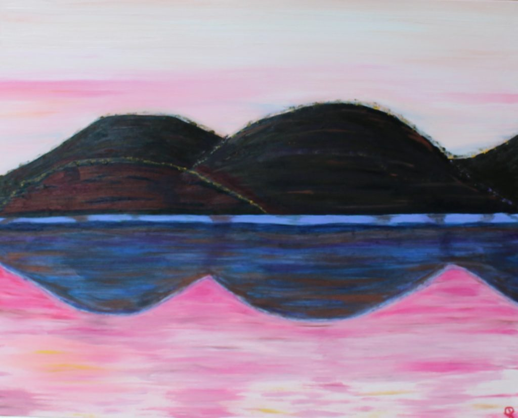 Oxbow 1, Russell Steven Powell oil on canvas, 24×30
