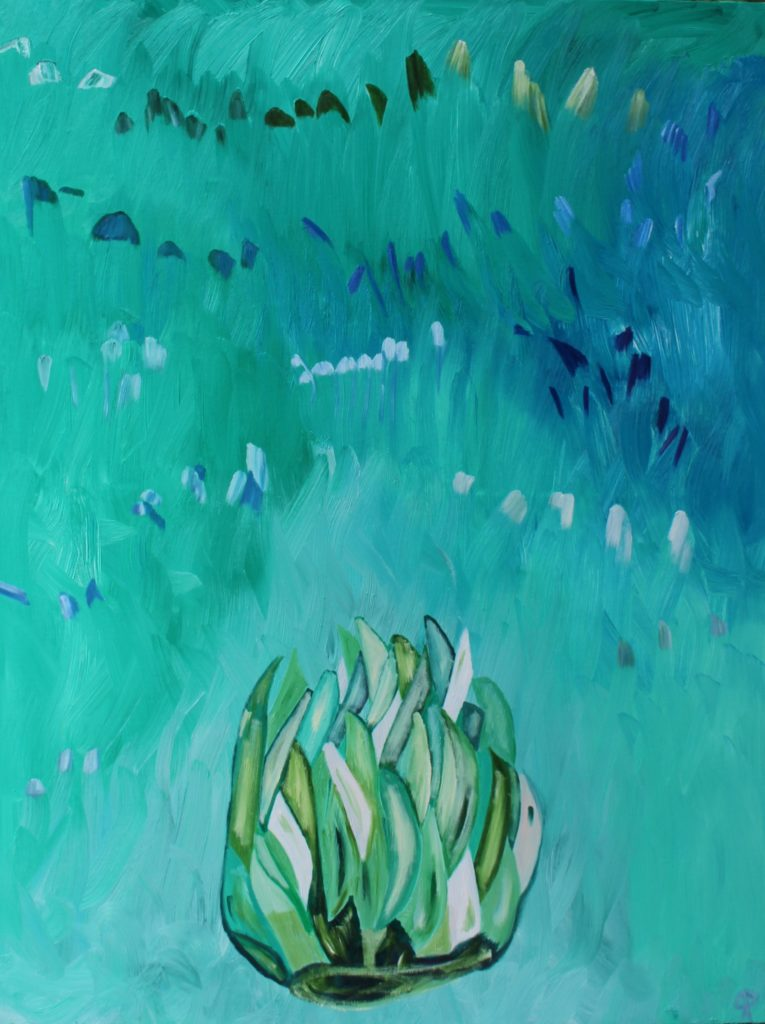 Artichoke, Russell Steven Powell oil on canvas, 40×30