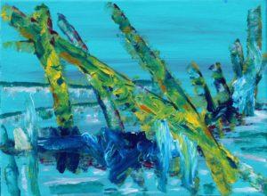 Florida Coast 23, Russell Steven Powell acrylic on canvas, 9×12