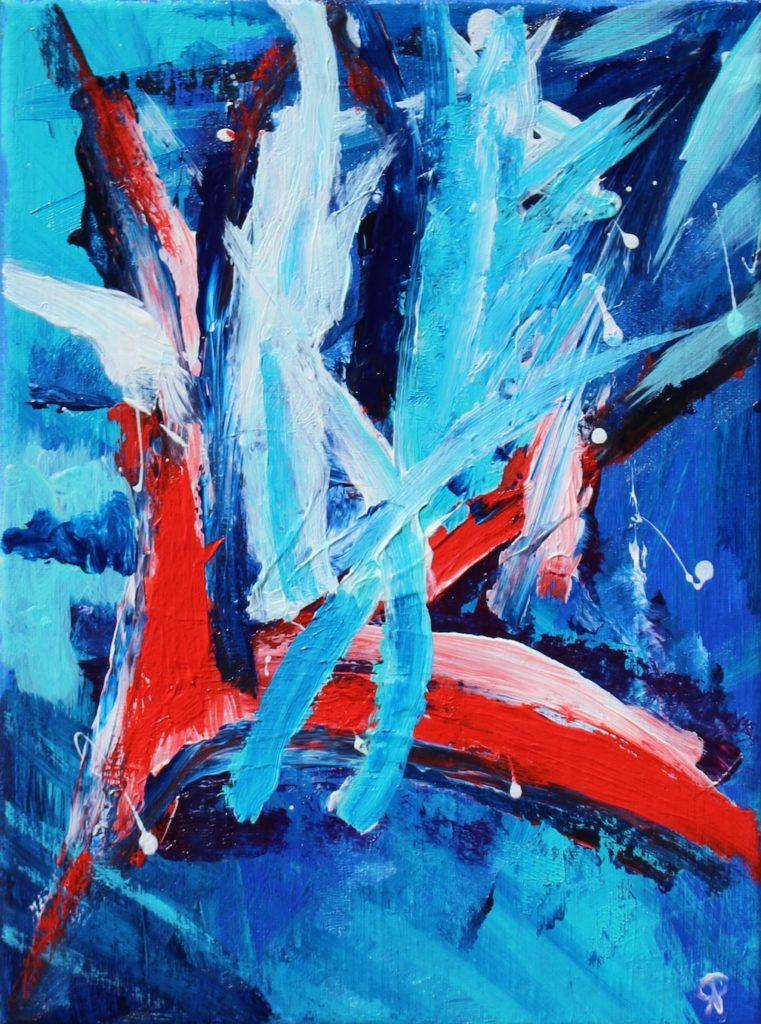 FLORIDA COAST 25, Russell Steven Powell acrylic on canvas, 12×9