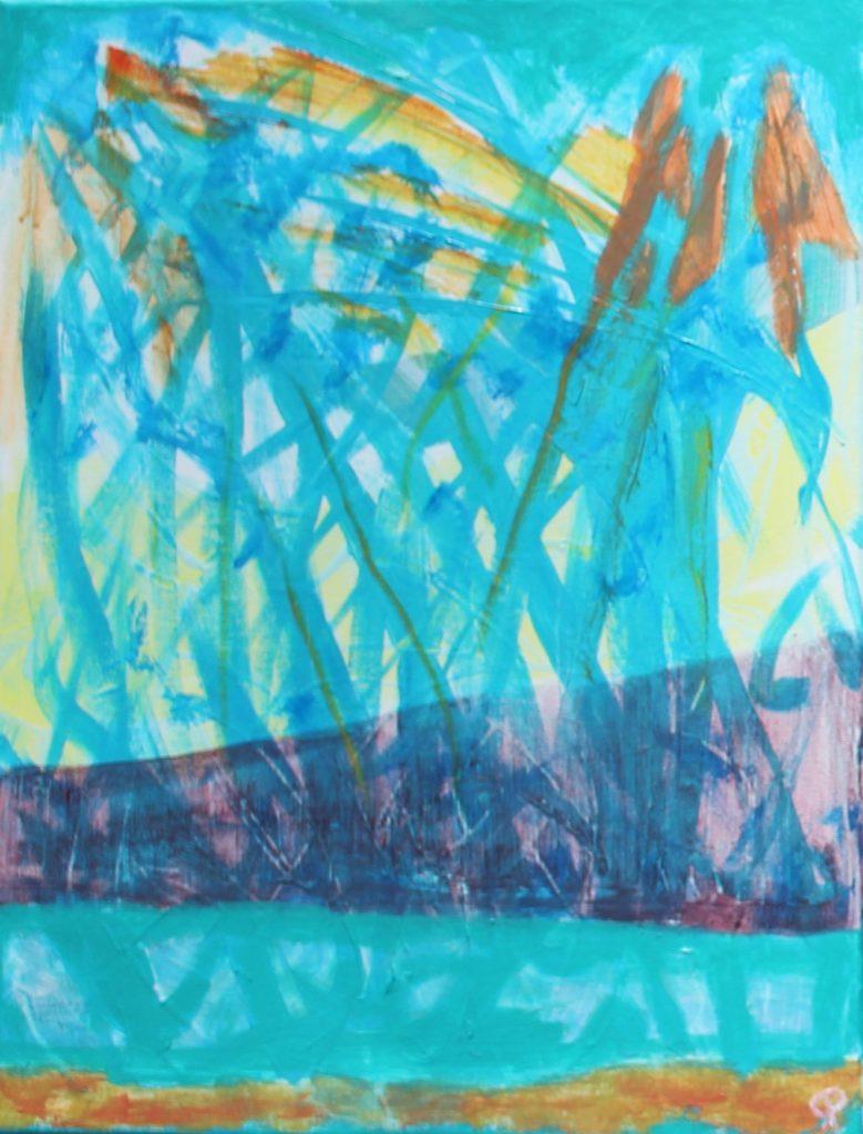 FLORIDA COAST 28, Russell Steven Powell acrylic on canvas, 14×11
