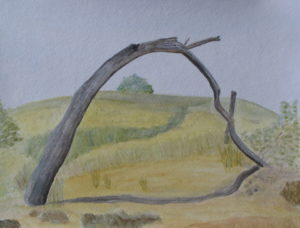 Peaked Hill Arch, Russell Steven Powell watercolor on paper, 11×15
