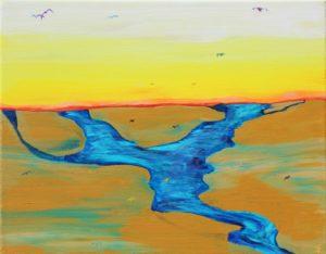 Florida Coast 9, Russell Steven Powell acrylic on canvas, 12x16