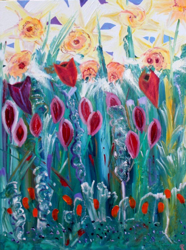 DAFFS, Russell Steven Powell oil on canvas, 40×30