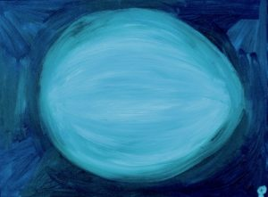 Melon, Russell Steven Powell oil on canvas, 12x16