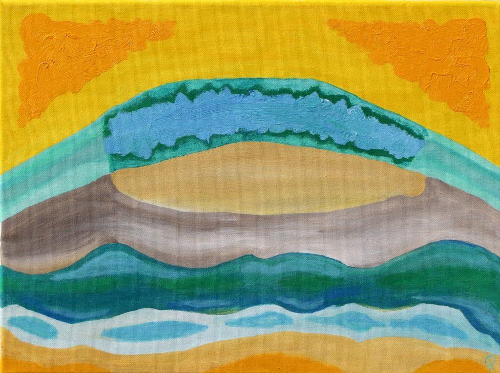 FLORIDA COAST 12, Russell Steven Powell acrylic on canvas, 12x16