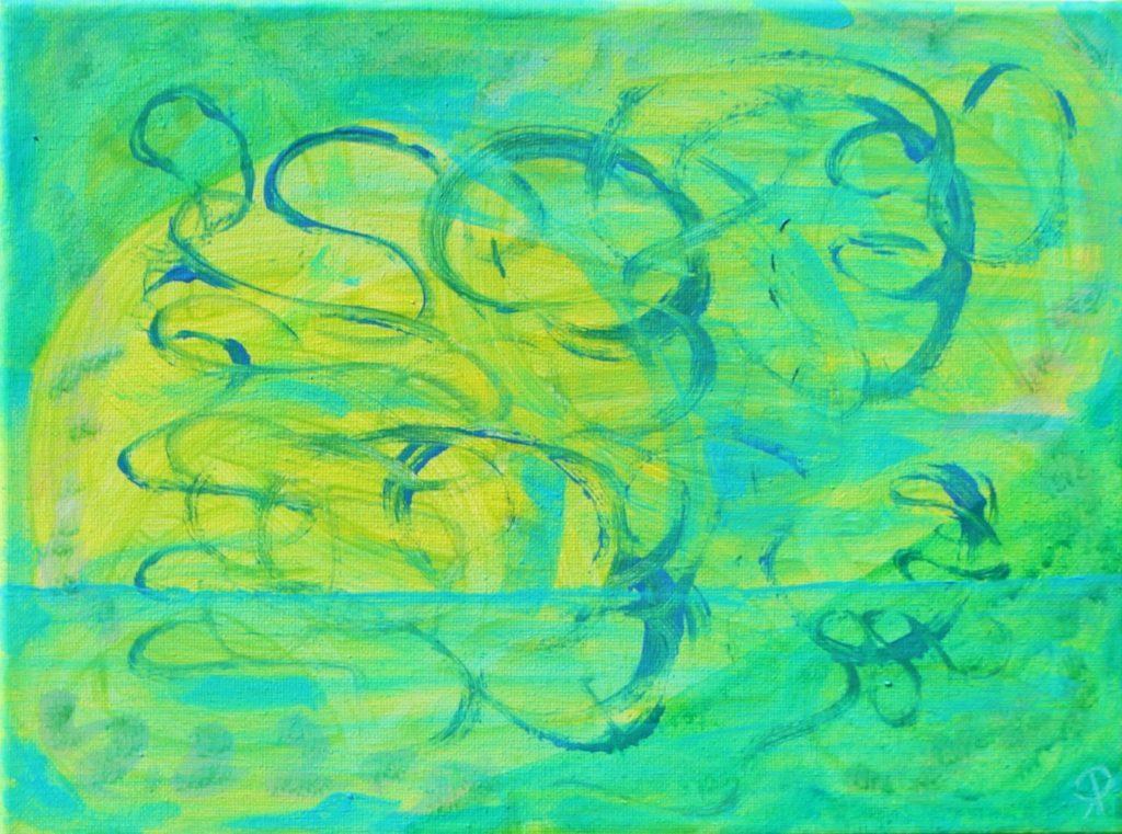 FLORIDA COAST 15, Russell Steven Powell acrylic on canvas, 11×14