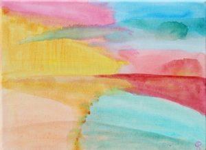 Florida Coast 31, Russell Steven Powell acrylic on canvas, 9×12