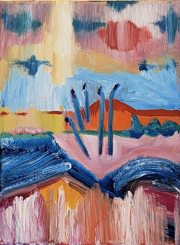 LANDSCAPE FIVE, Russell Steven Powell oil on canvas, 12x9